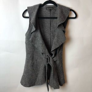 Marisa Christina Grey 100% Wool Vest